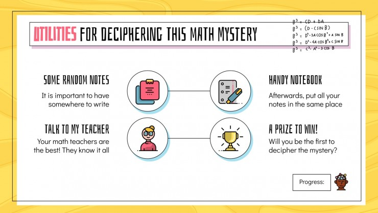 Math Mystery Escape Room presentation template