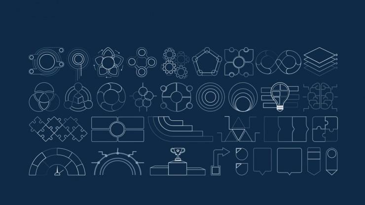 Gray Sportif Businessplan Design Präsentationsvorlage