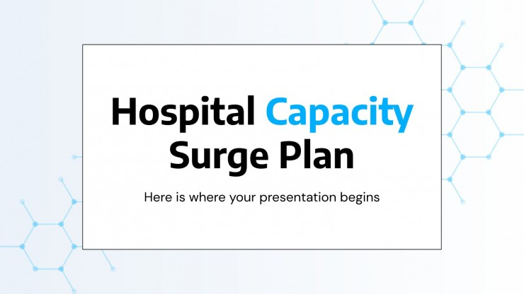 Plantilla de presentación Plan de aumento de la capacidad hospitalaria