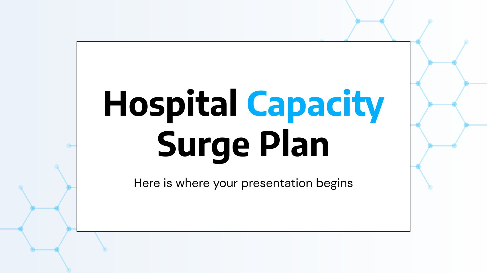 Hospital Capacity Surge Plan presentation template