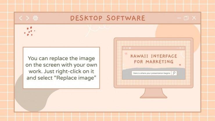 Interface kawaii pour marketing : Modèles de présentation