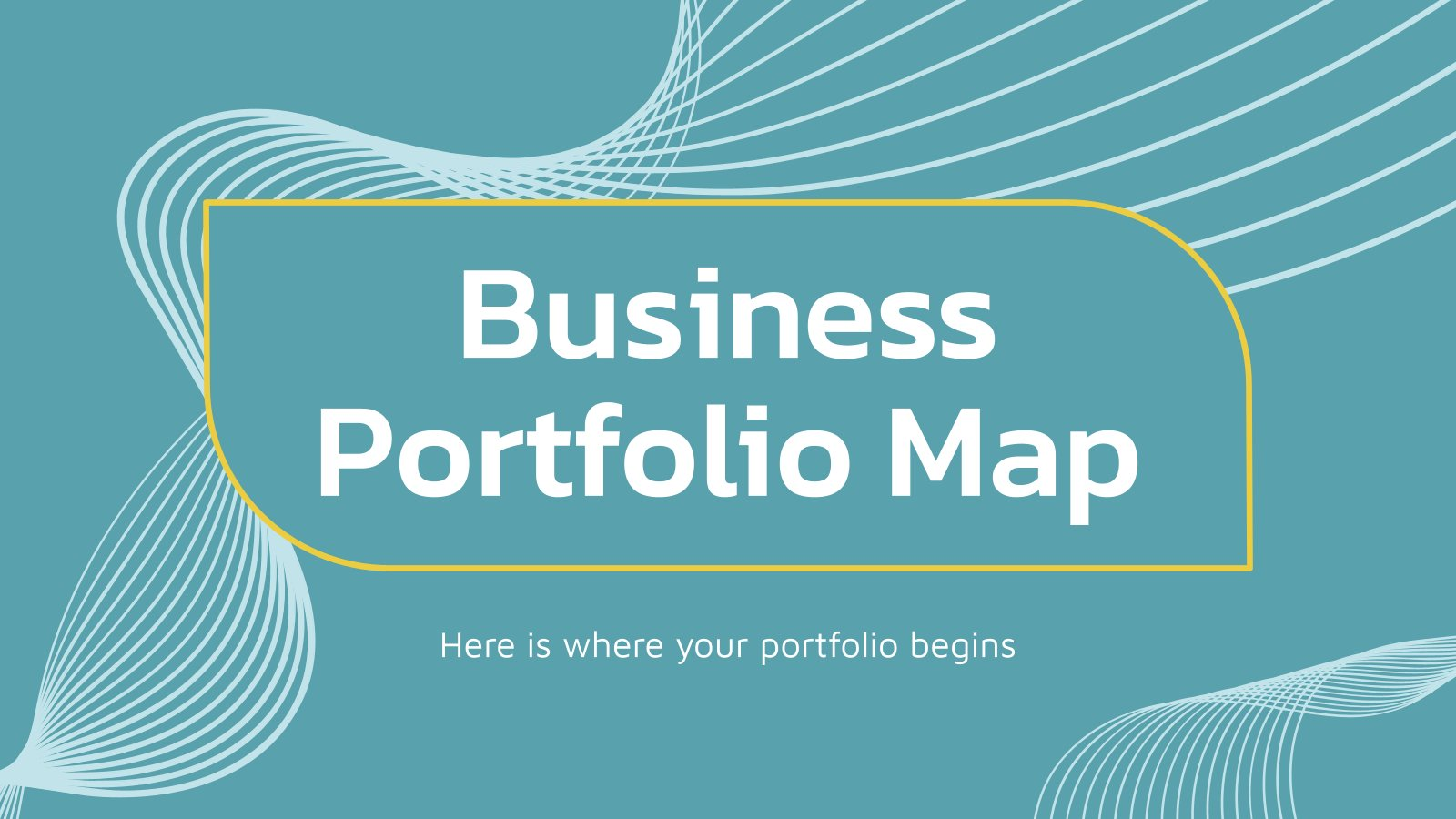 Business Portfolio Map presentation template