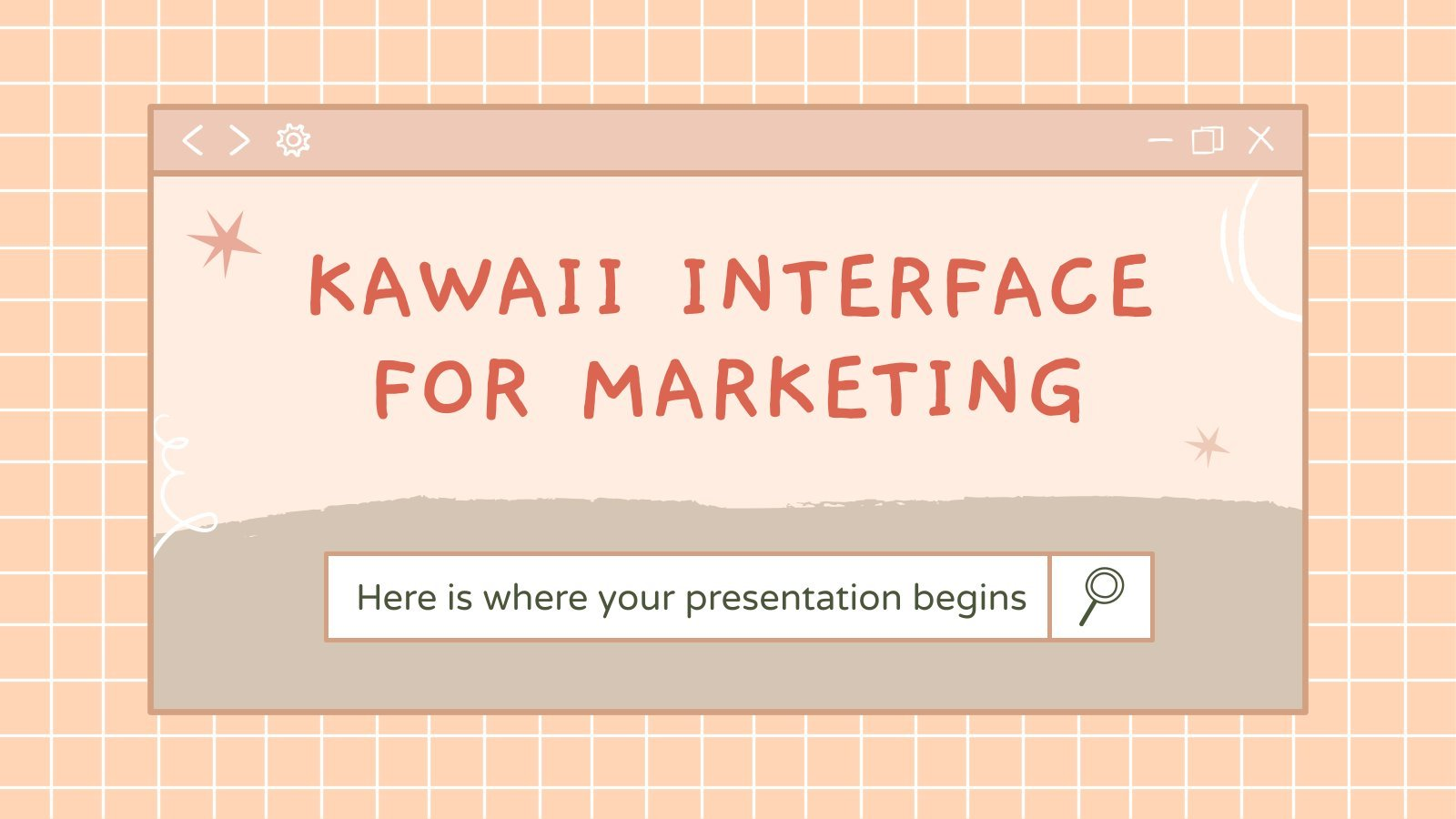 Kawaii Interface for Marketing presentation template