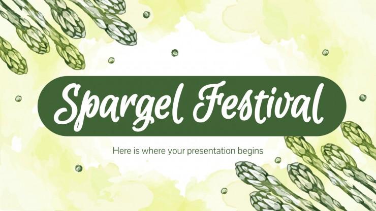 Plantilla de presentación Spargel Festival