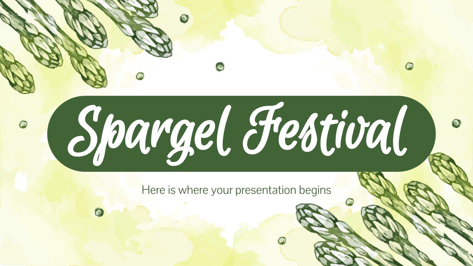 Spargel Festival presentation template