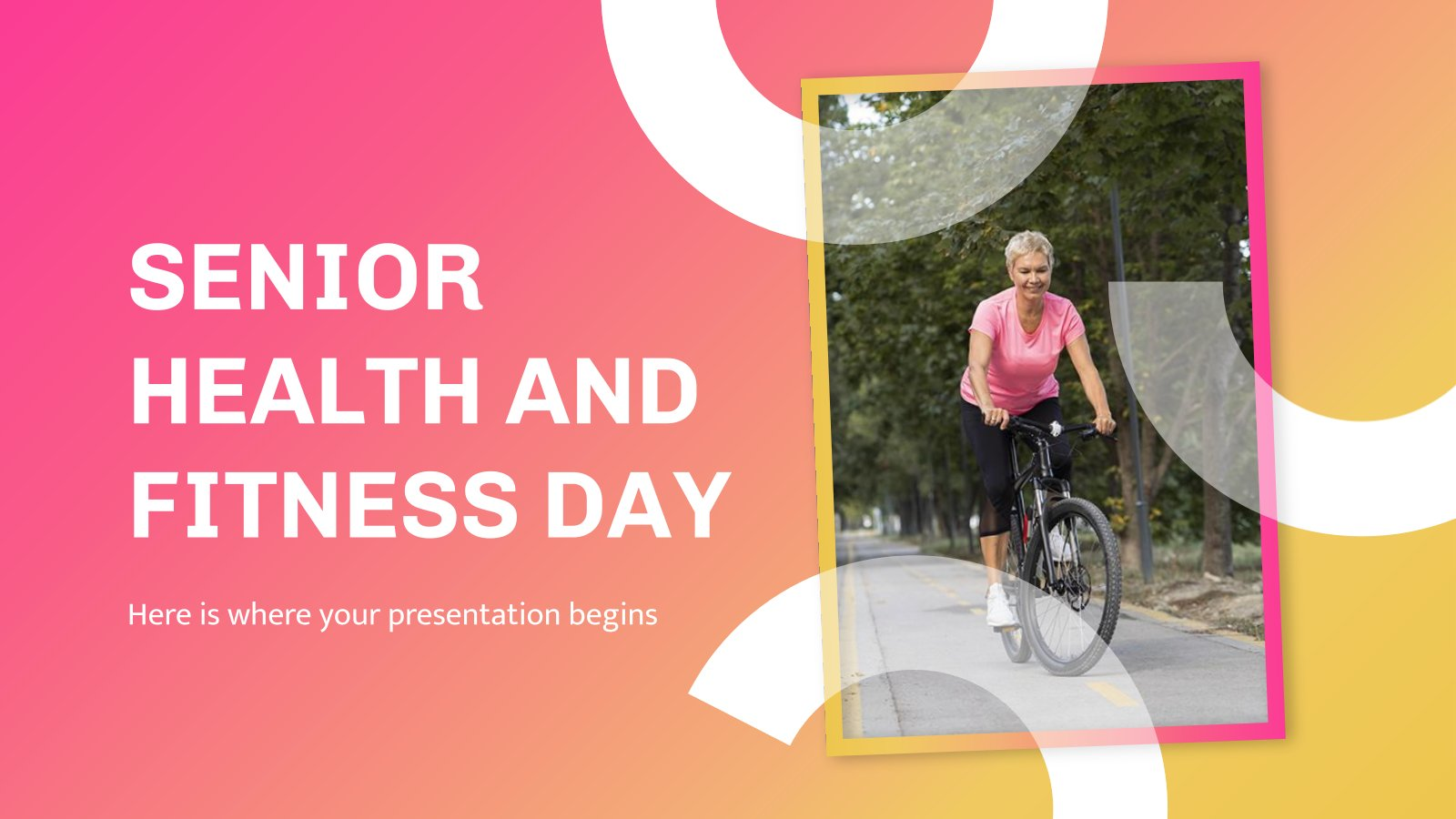 Senior Health and Fitness Day presentation template