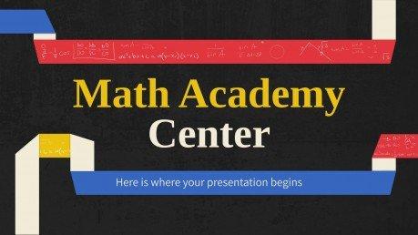 Plantilla de presentación Academia de matemáticas