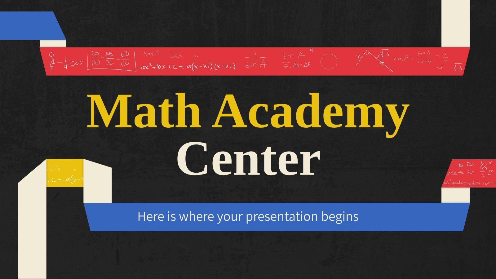 Modelo de apresentação Academia de matemática