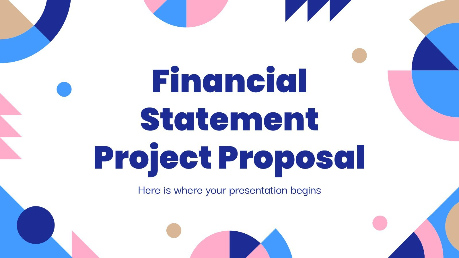 Financial Statement Project Proposal presentation template