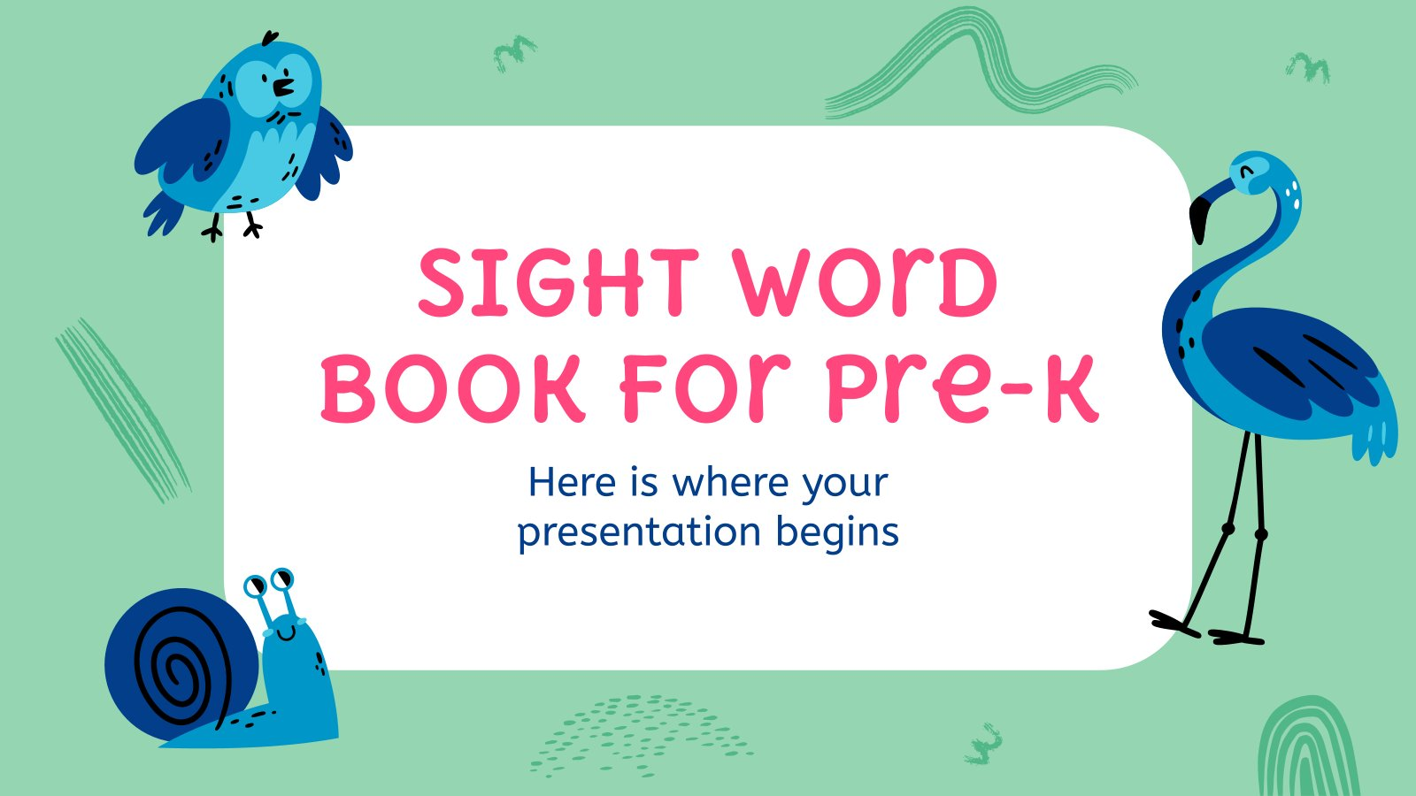 Sight Word Book for Pre-K presentation template