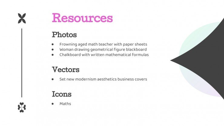 Modern Shapes Math Lesson presentation template