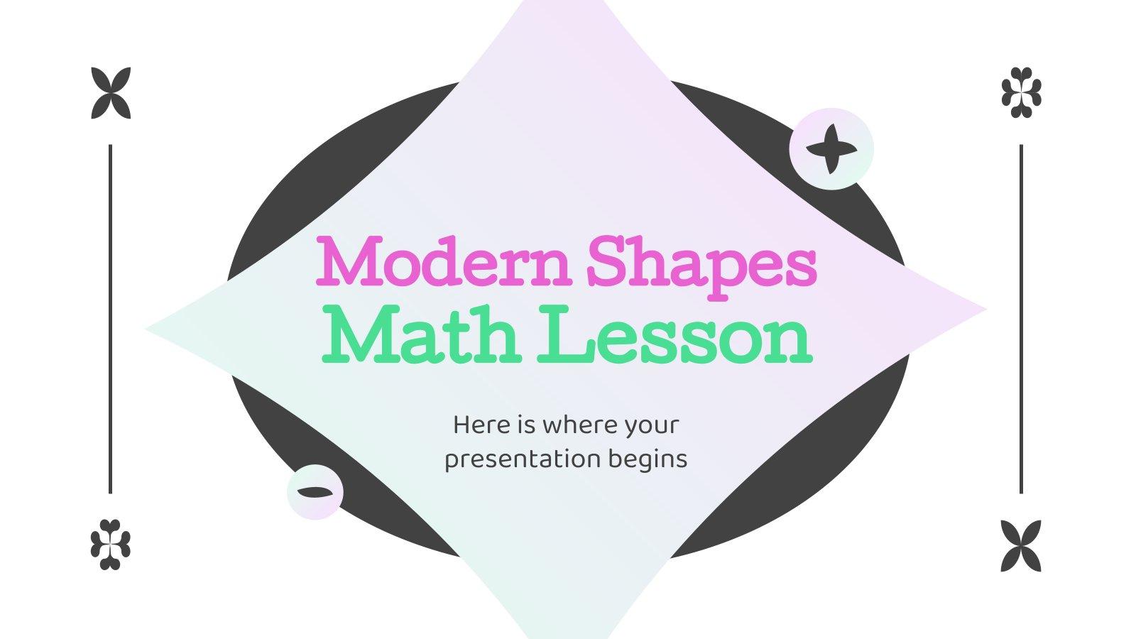 Modern Shapes Math Lesson presentation template
