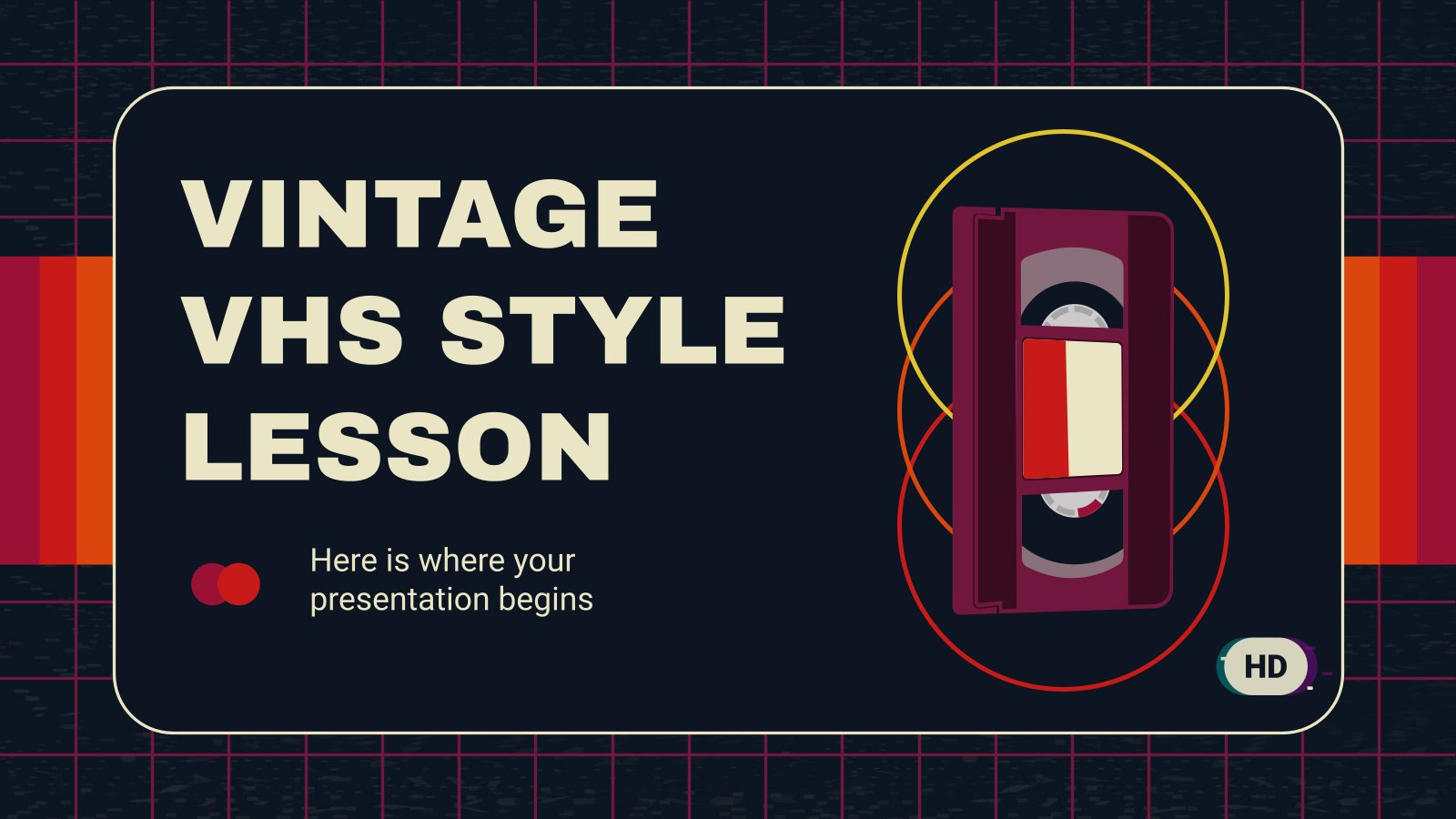 Vintage VHS Style Lesson presentation template