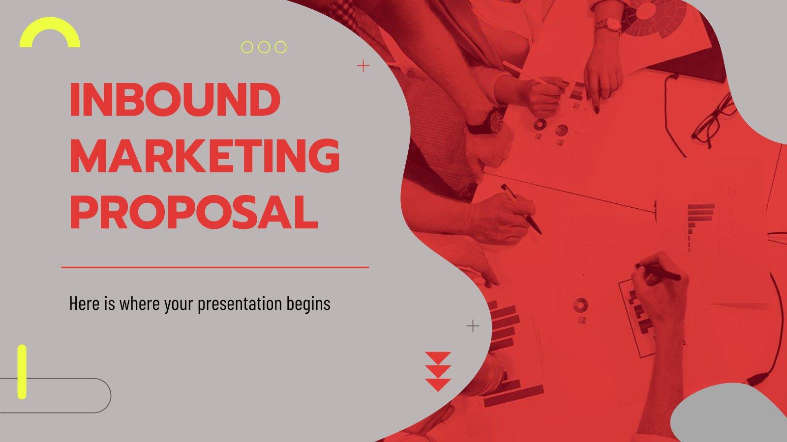 Modelo de apresentação Proposta de inbound marketing