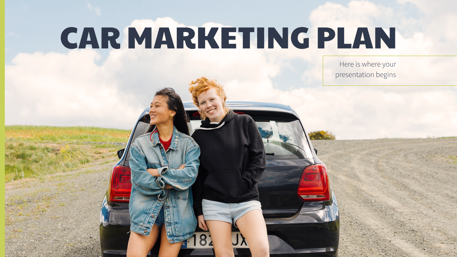 Car Marketing Plan presentation template