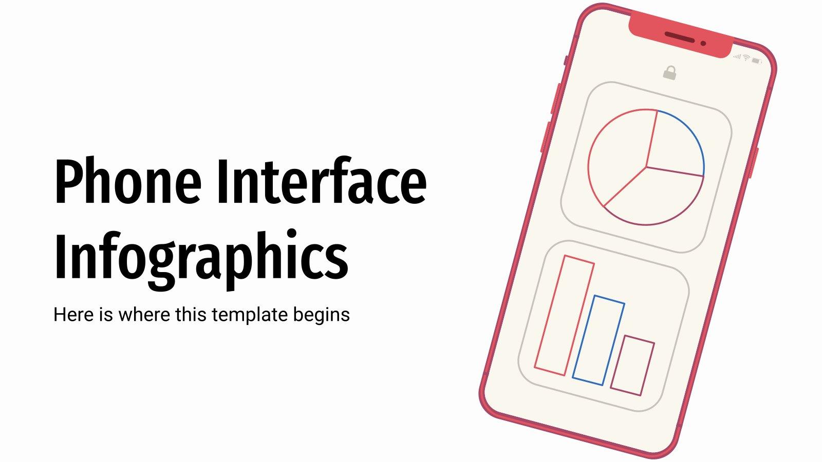 Infographies sur l'interface des téléphones portables : Modèles de présentation