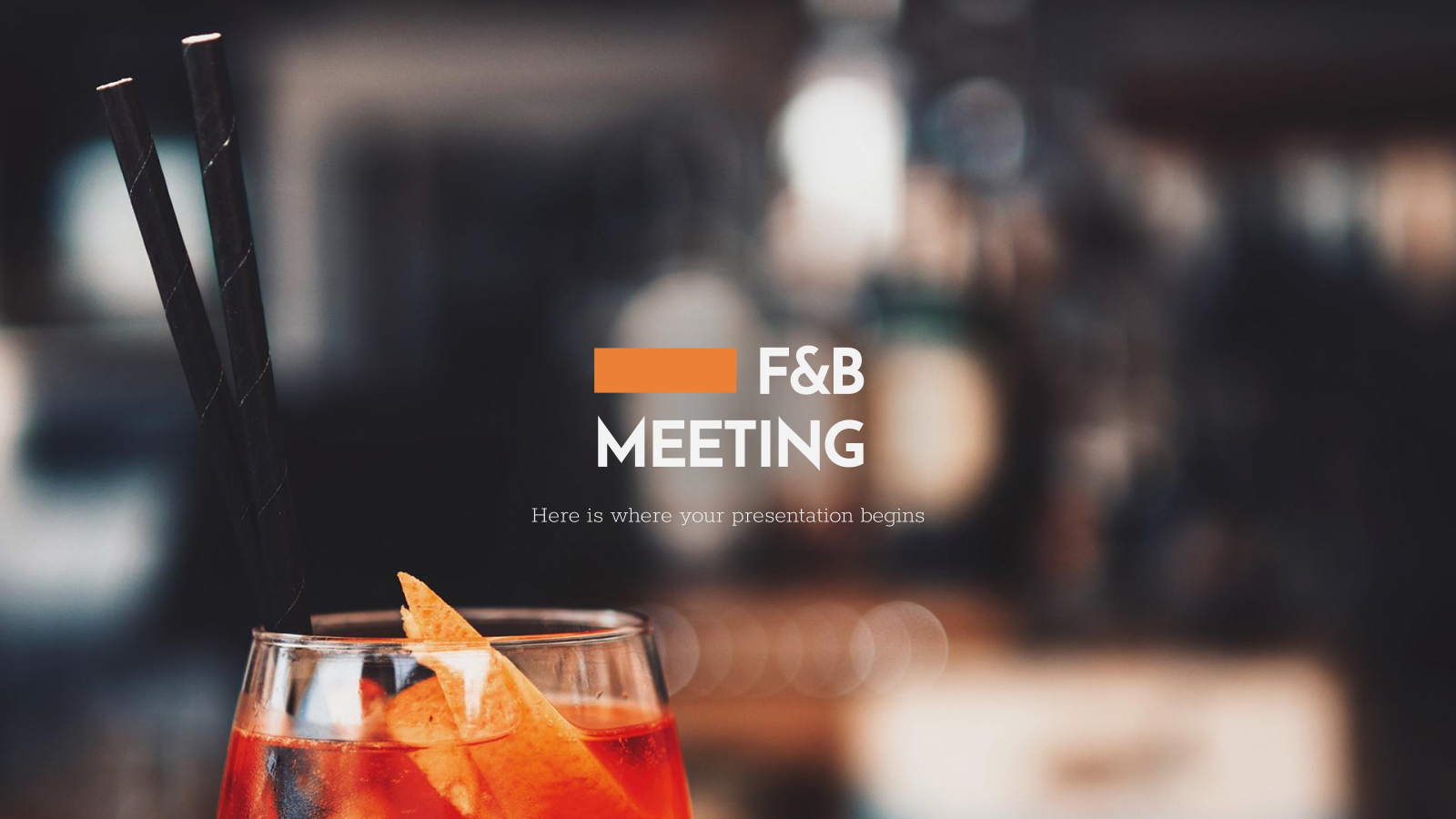 Food & Beverage Meeting presentation template