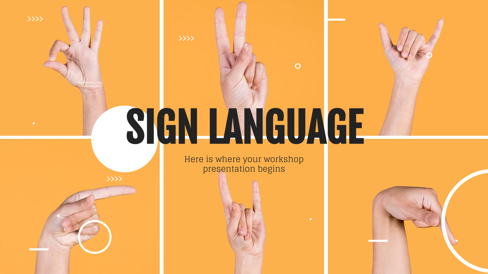 Sign Language Workshop presentation template