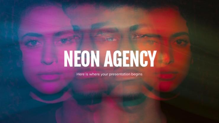 Neonfarben Agentur Präsentationsvorlage