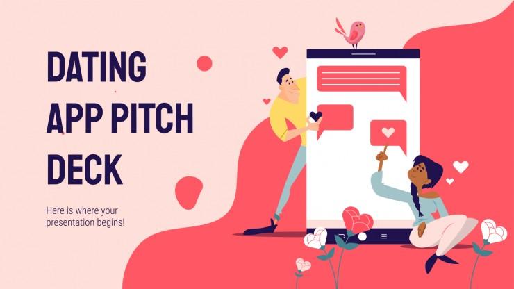 Dating App Pitch Deck presentation template