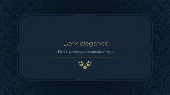 Modelo de apresentação Elegância escura