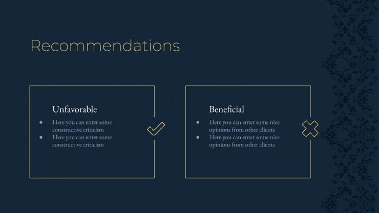 Dark Elegance presentation template