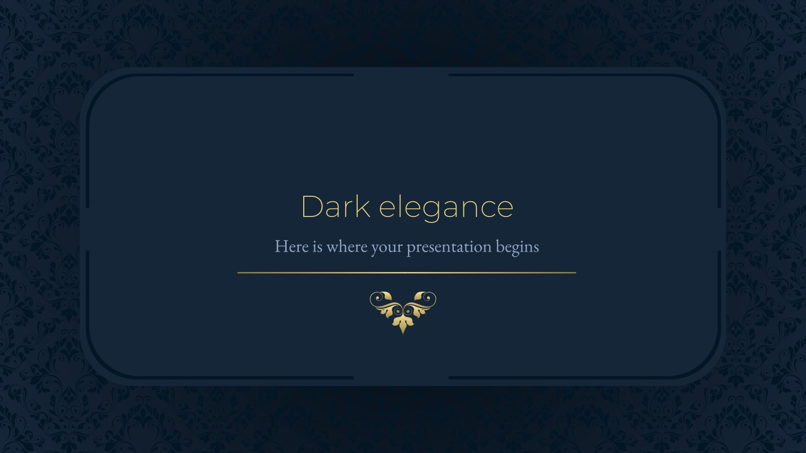 Plantilla de presentación Elegancia oscura
