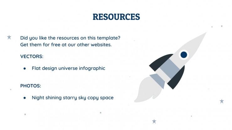 Astronaut CV presentation template