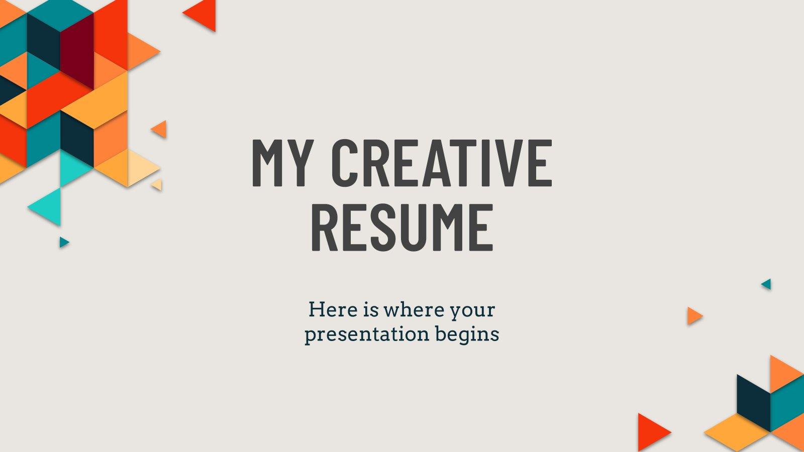 Plantilla de presentación Mi currículo creativo