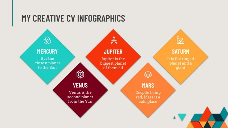 Modelo de apresentação Infográficos meu currículo criativo