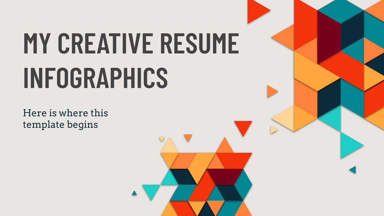 My Creative Resume Infographics presentation template