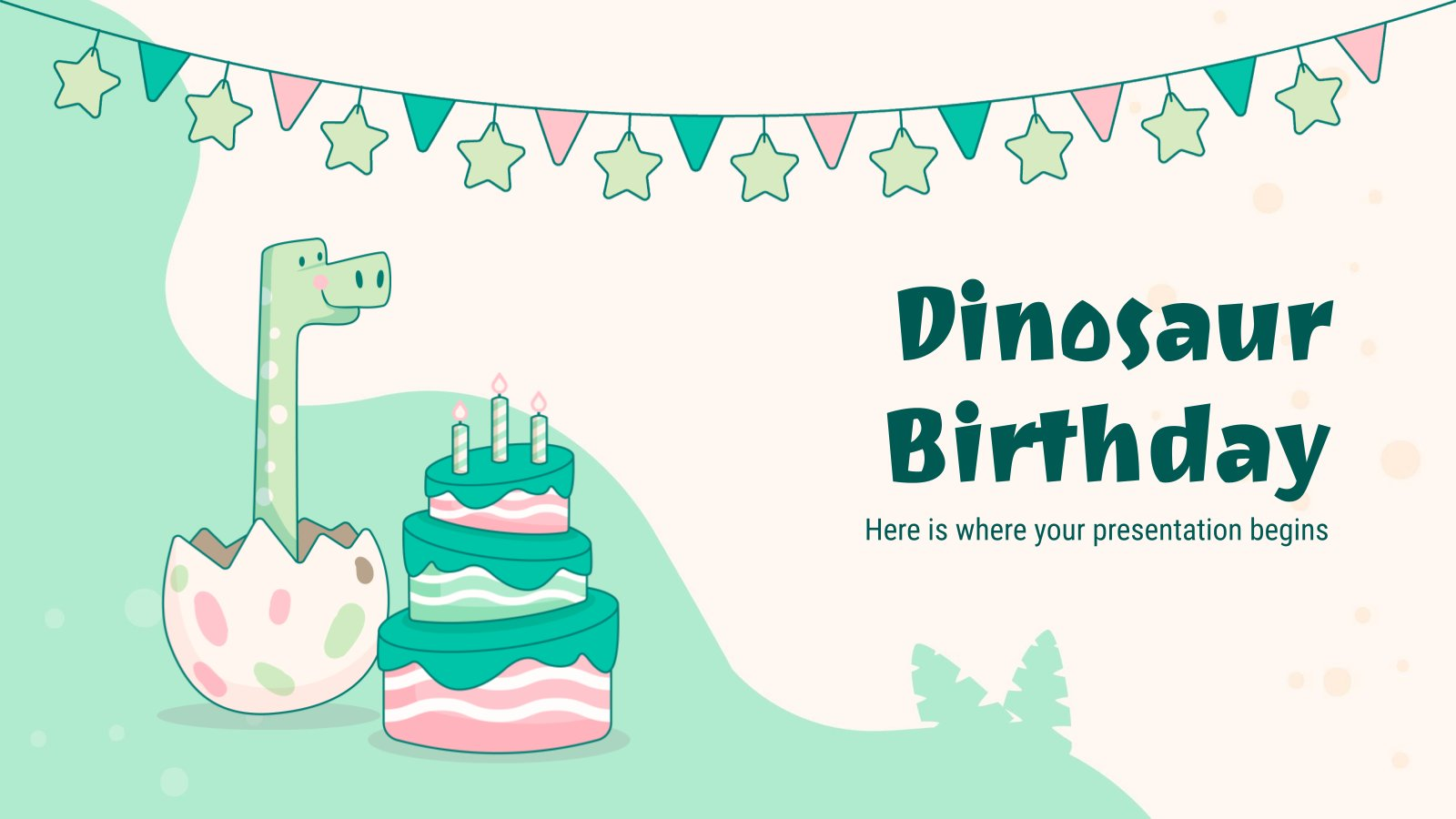 Dinosaurier Geburtstag Präsentationsvorlage