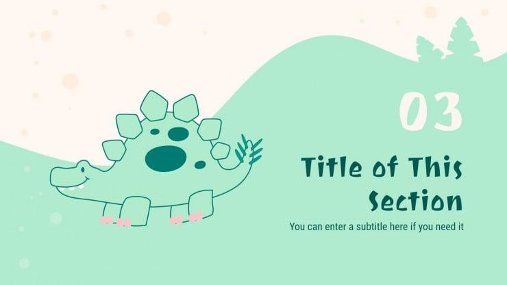 Dinosaur Birthday presentation template