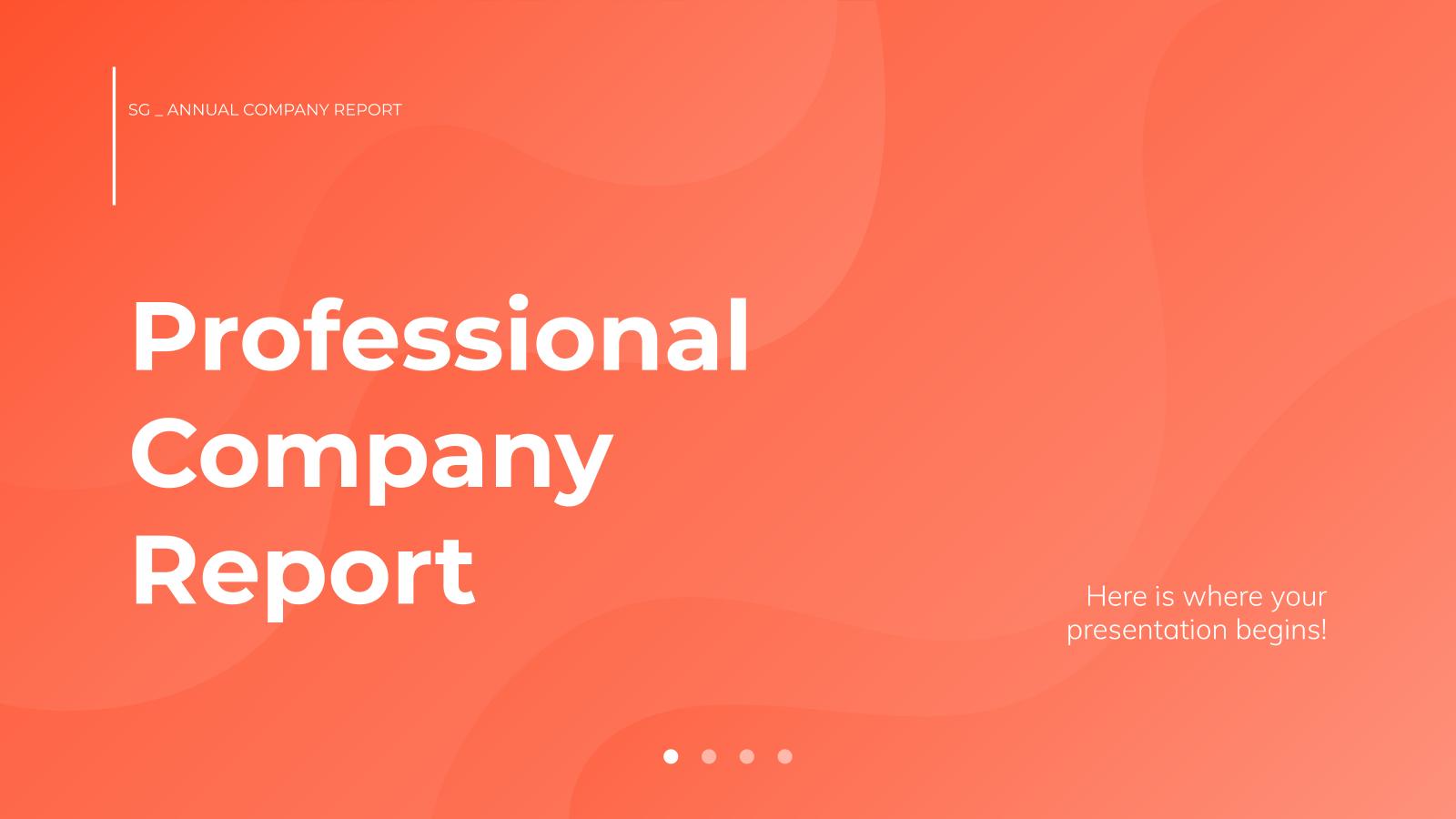 Modelo de apresentação Relatório profissional para empresas