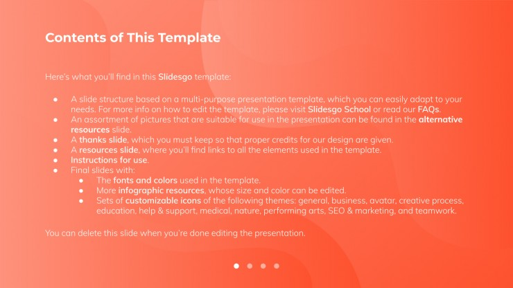 Professional Company Report presentation template