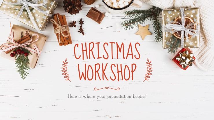 Modelo de apresentação Oficina de Natal
