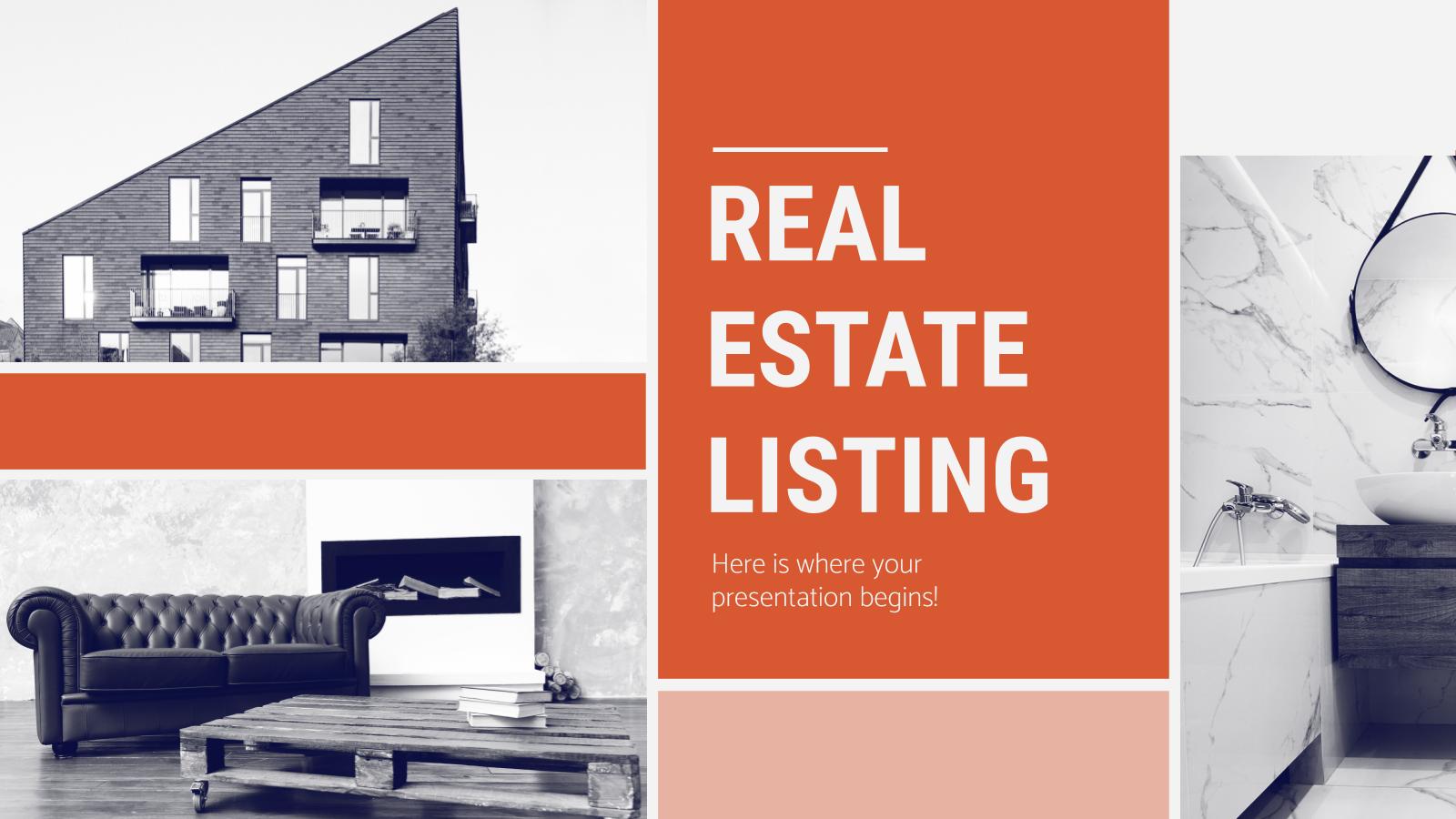Modelo de apresentação Anúncios imobiliários