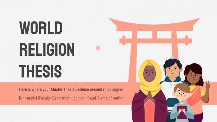 World Religion Thesis presentation template