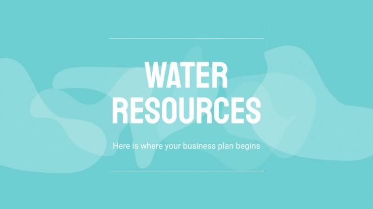 Plantilla de presentación Empresas sector del agua