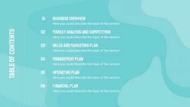 Water Resources Business Plan presentation template