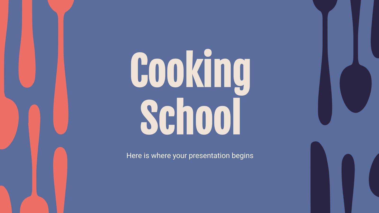 Cooking School presentation template