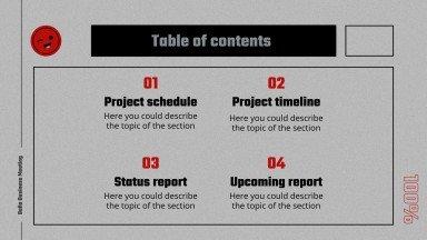 Beña Business Meeting presentation template