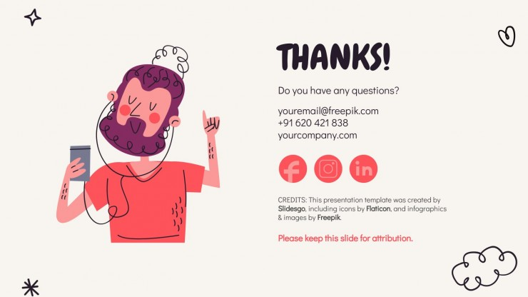 Happy Doodle Newsletter presentation template