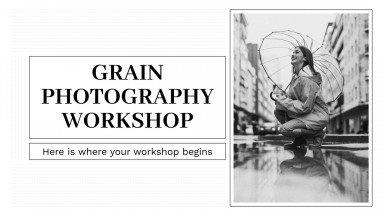 Plantilla de presentación Taller de fotografía granulada