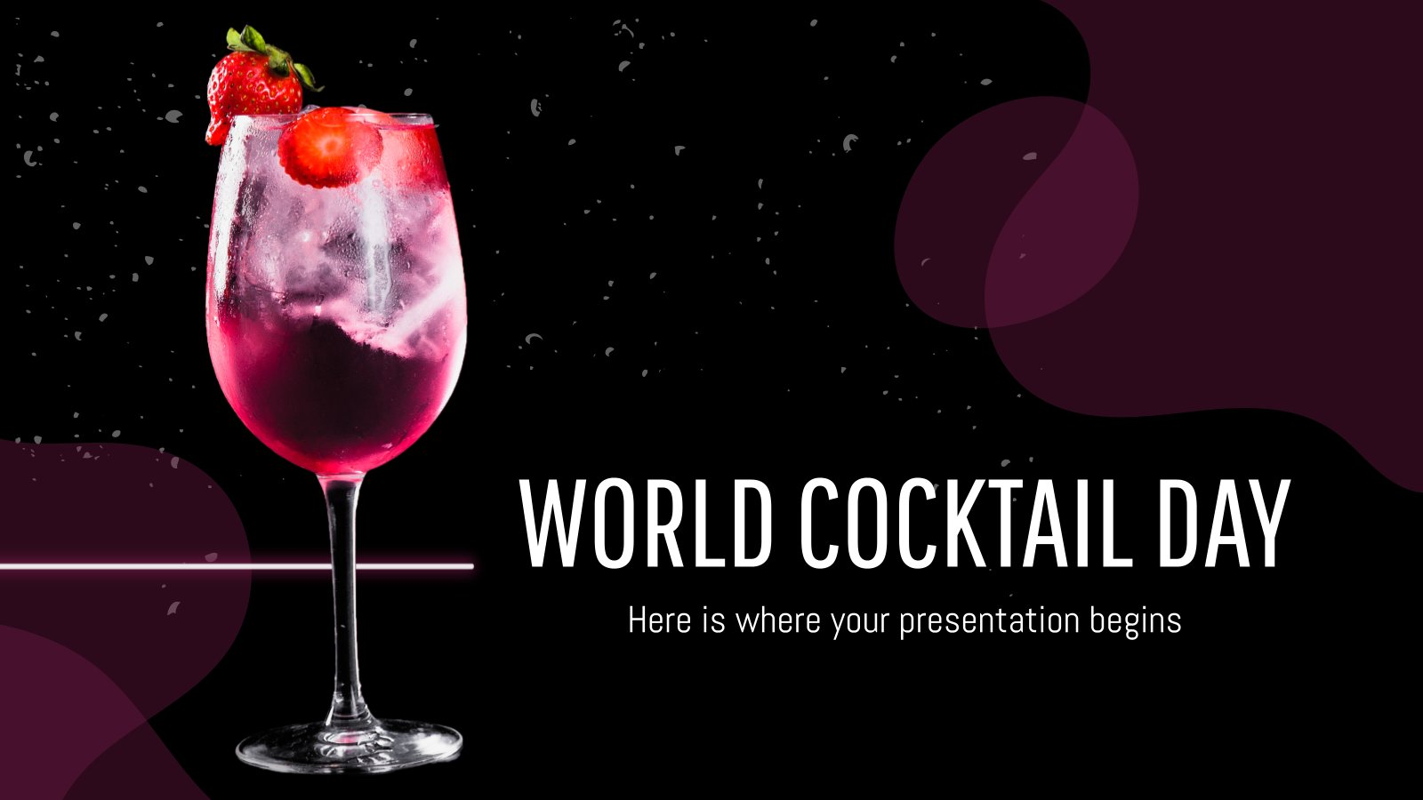 Plantilla de presentación Día mundial del cóctel