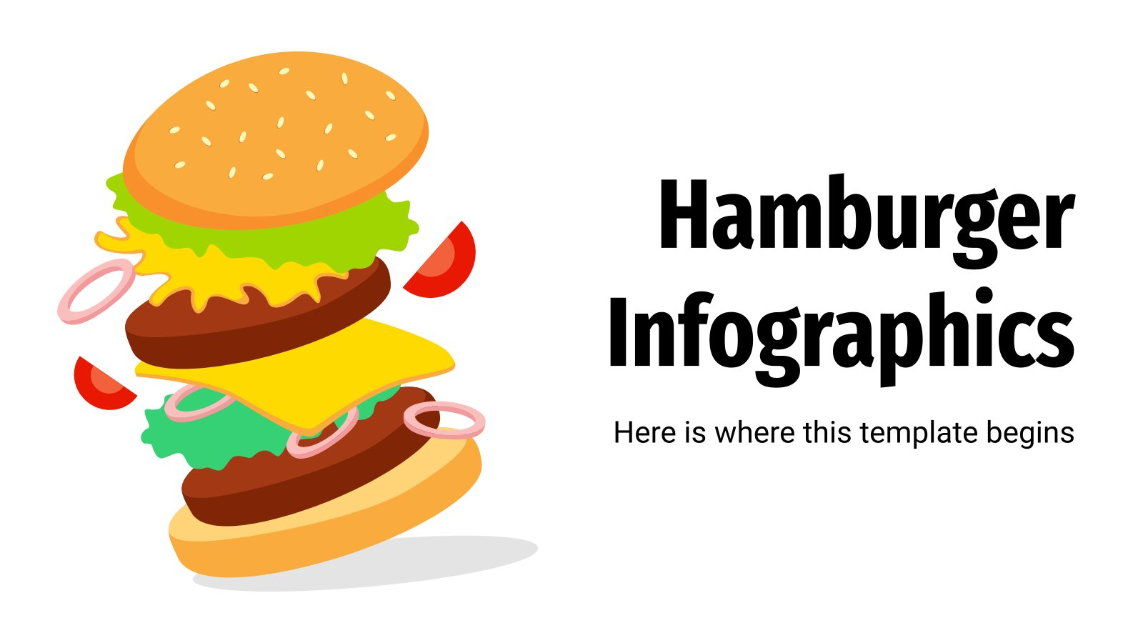 Hamburger Infographics presentation template