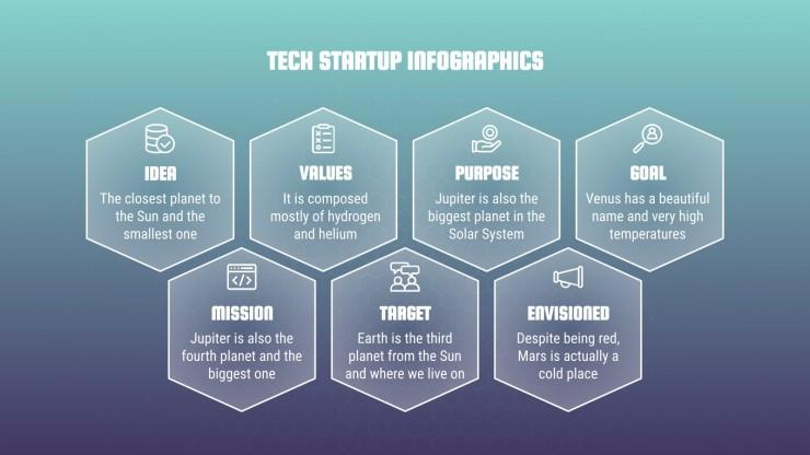 Tech Startup Infografiken Präsentationsvorlage