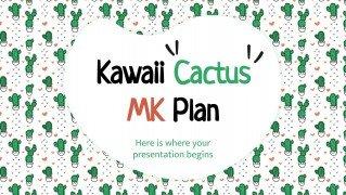 Kawaii Cactus MK Plan Präsentationsvorlage