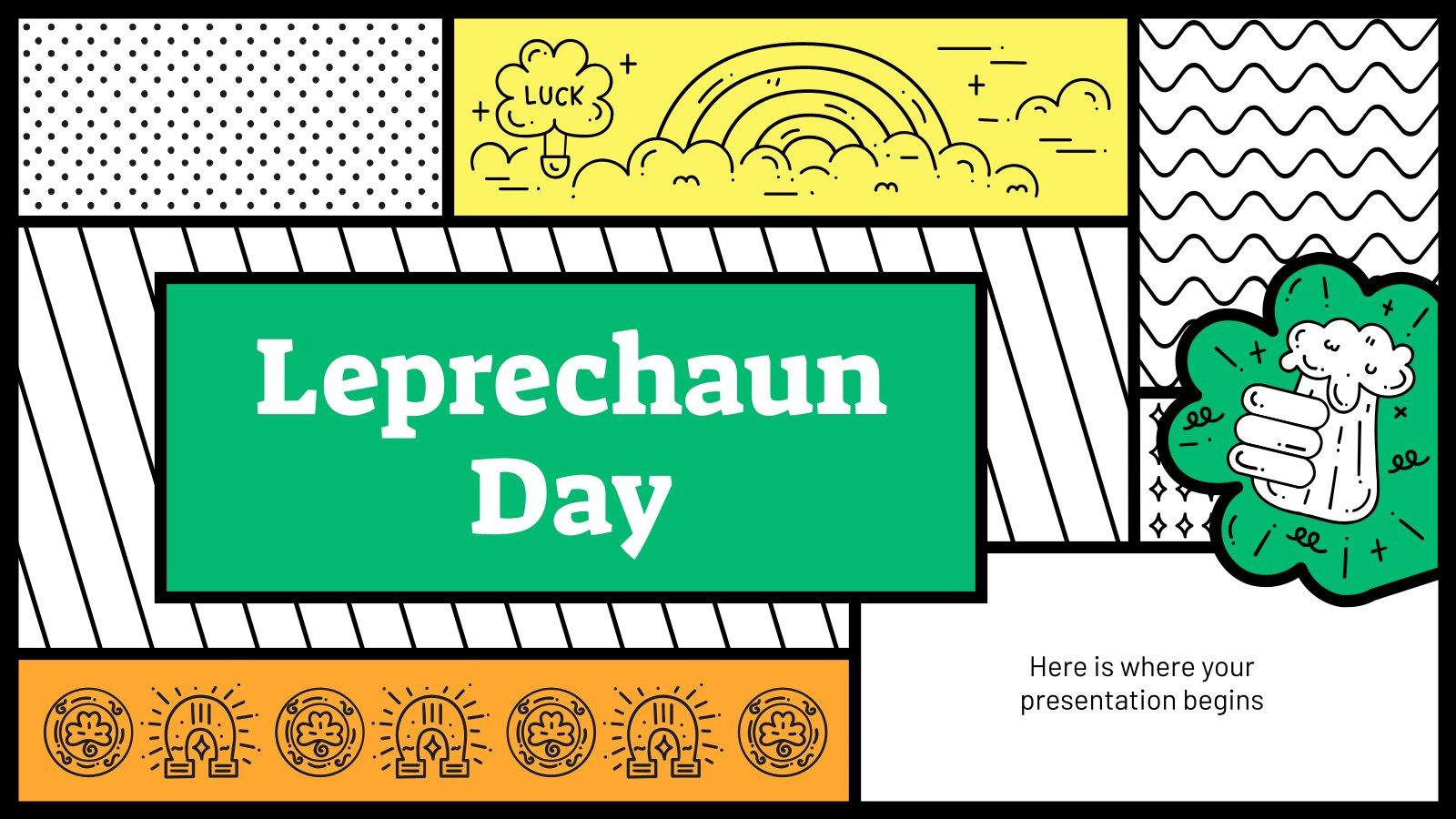 Leprechaun Day presentation template