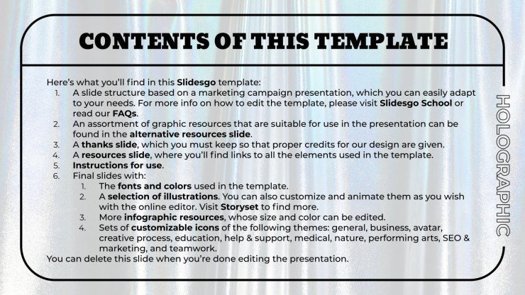 Holographic Textures MK Campaign presentation template